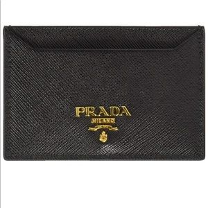Prada | Black Patent Saffiano Leather Cardholder
